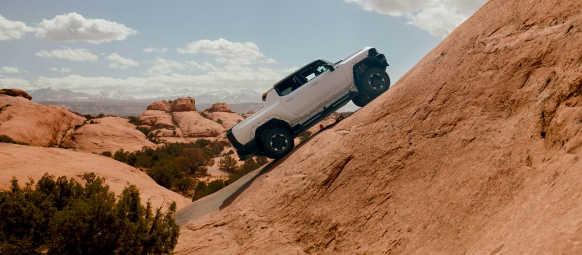 The GMC HUMMER EV Pickup goes through rigorous off-road testing on challenging trails near Moab, Utah in the lead-up to its production debut this fall.