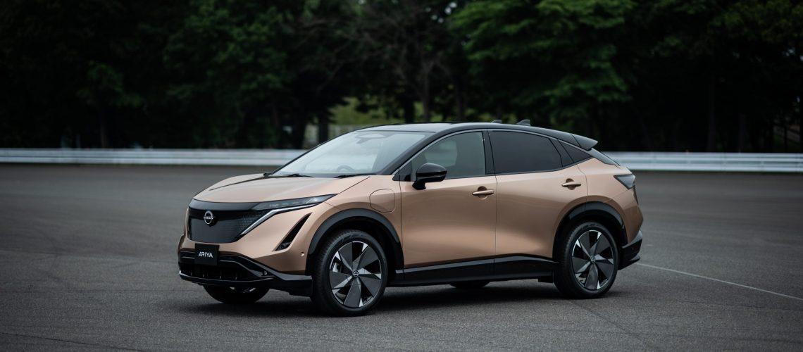 Nissan Ariya front quarter_1-source