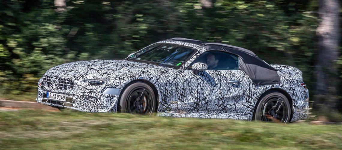 Vorserienfahrzeuge des neuen SL Roadster starten zu ausführlichen Straßentests